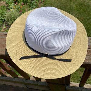 New MB Krauss Fedora Panama Colorblock Sun Hat